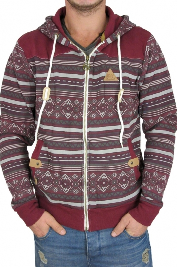 Buzz men's zip hoodie in bordeaux
