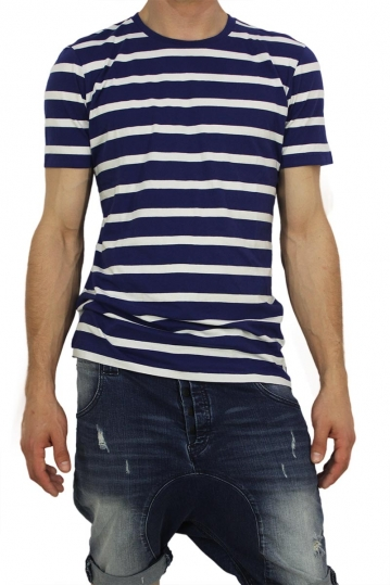 Globe men's Moonshine blue stripe t-shirt