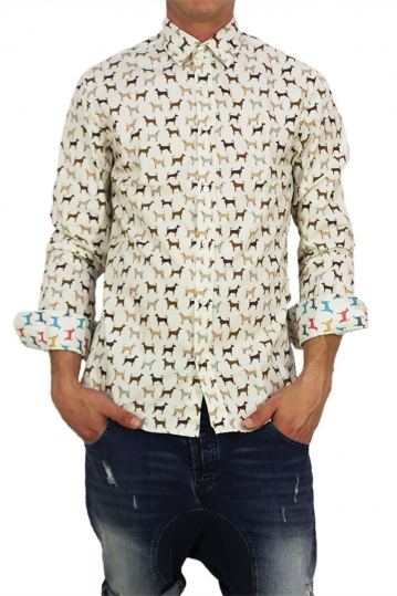 Missone men's shirt with dogs print