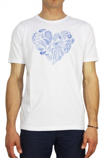 Combos heart print t-shirt white