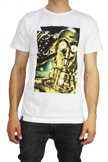 Dedicated Star Wars ανδρικό t-shirt C3PO λευκό