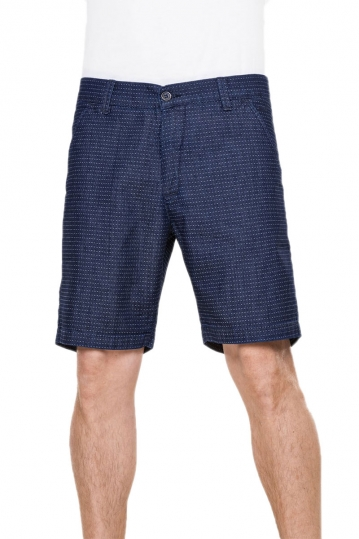 Reell men's chino shorts Miami dark dots