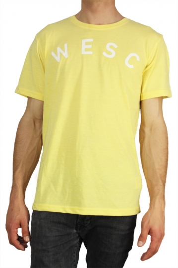 Wesc men's t-shirt Sixtus pale banana