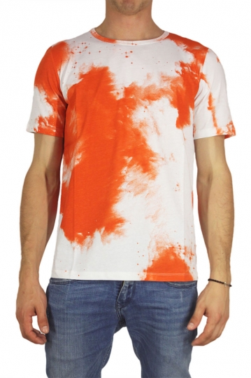 Wesc men's t-shirt Bree aop brunt orange