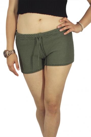 Agel Knitwear knitted shorts khaki