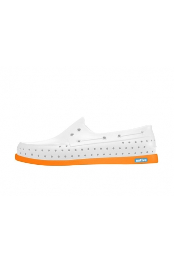 Men's Native shoes Howard shell white/begonia orange