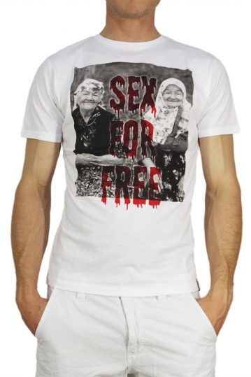 French Kick T-shirt Sex for free λευκό