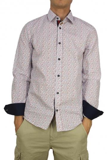 Missone men's shirt with blue-red circle dots