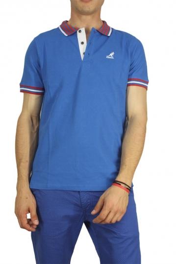 Kangol polo t-shirt Bayne cobalt blue