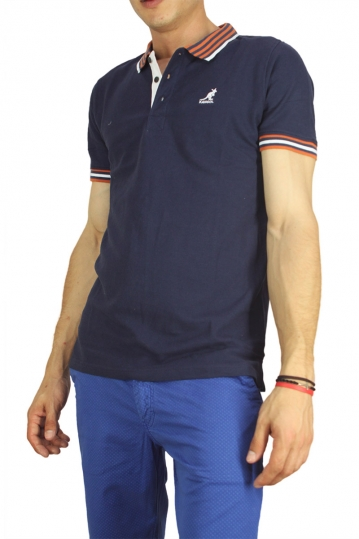 Kangol polo t-shirt Bayne navy