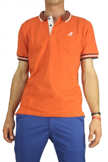 Kangol polo t-shirt Bayne orange