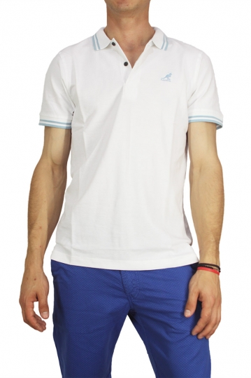 Kangol polo t-shirt Joshua white