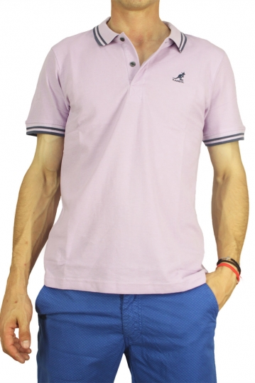 Kangol polo t-shirt Joshua lilac