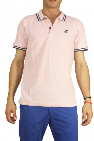 Kangol polo t-shirt Joshua light pink