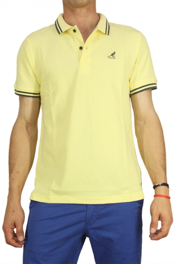 Kangol polo t-shirt Joshua pale yellow