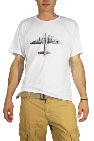 Dog's Dinner men's T-shirt Plane white