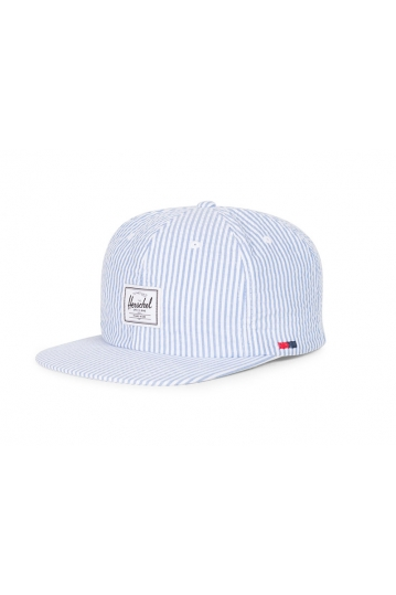 Herschel Supply Co. Albert Cap white seersucker