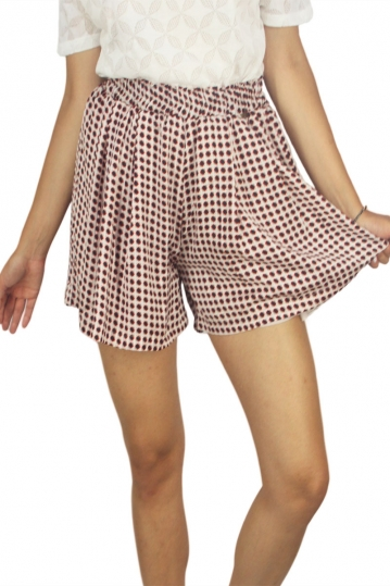 Mismash Goofy shorts beige with black dots