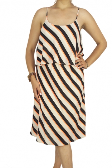 Soft Rebels Winnie striped strappy dress
