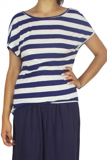 Mismash Aure Breton stripe t-shirt navy-white