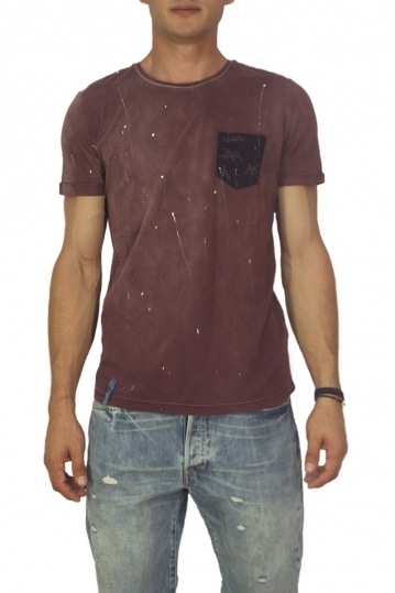 Best choice chrome men's splashes T-shirt bordeaux
