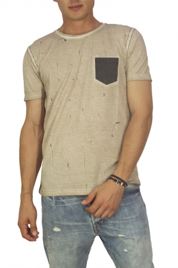 Best choice Self men's pocket T-shirt beige