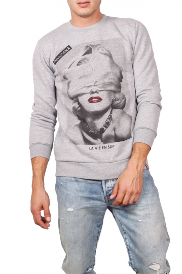 French Kick sweatshirt Marilyn grey melange