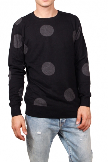 Globe Omeo sweater black with jacquard dots