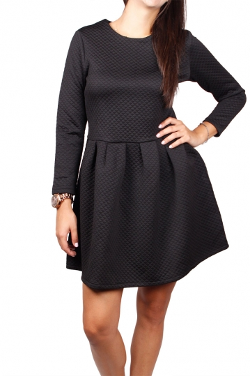 Migle + me quilted mini dress black