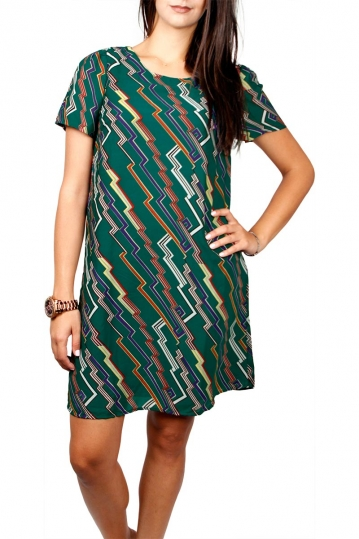 Migle + me short sleeve mini dress green
