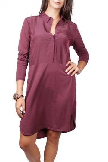 Soft Rebels Harper long sleeved shirt dress grape wine
