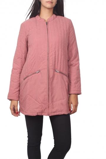 Soft Rebels Tokyo quilted jacket dark pink