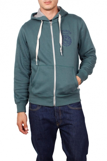 Superior Vintage zip up hoodie petrol