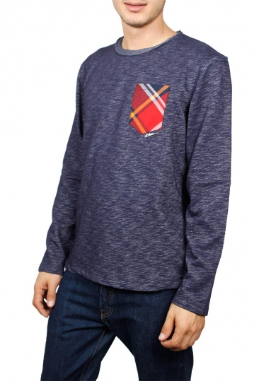 Men's pocket long sleeve tee navy