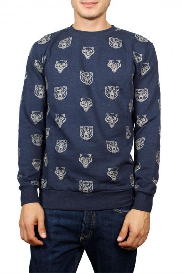 French Kick sweatshirt Grrr navy