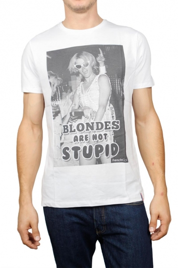 French Kick T-shirt Blondes λευκό