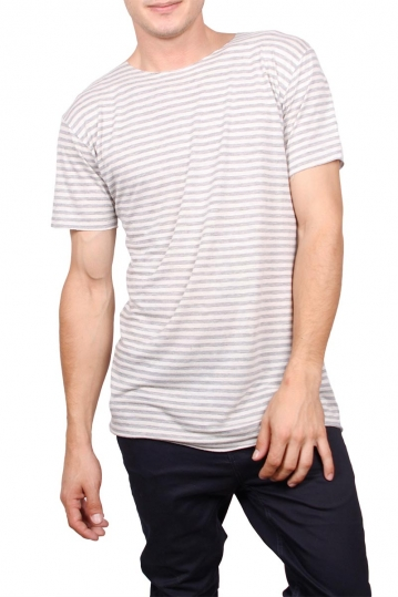 Tag men's striped t-shirt ecru-grey marl