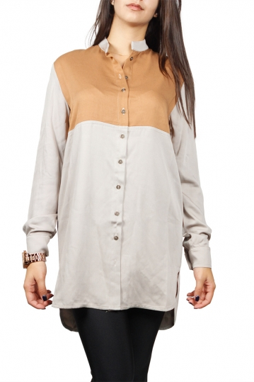 Arpyes long shirt beige-camel