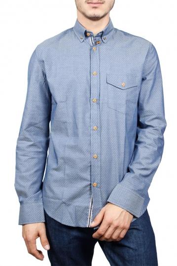 Missone men's shirt in jacquard dots
