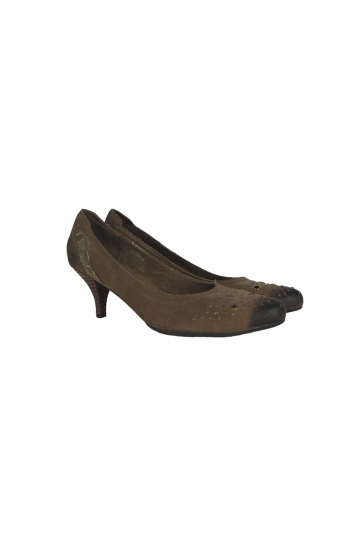 Replay Xenia leather pumps brown