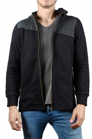 Men's zip hoodie in black