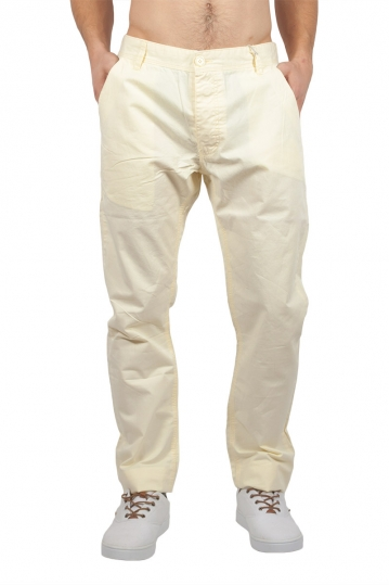 Men's chino trousers in light yellow