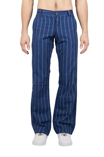 Energie men's striped chino pants blue