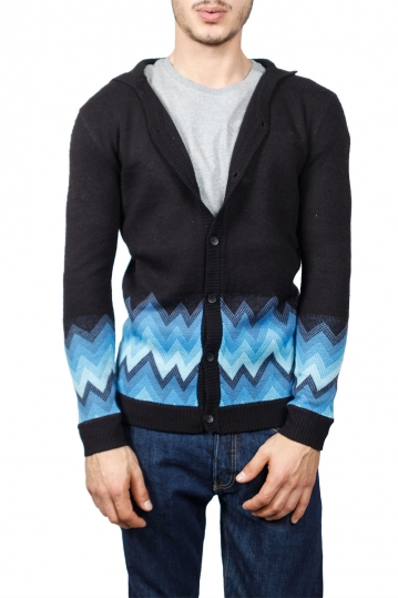 Insight men's hooded cardigan