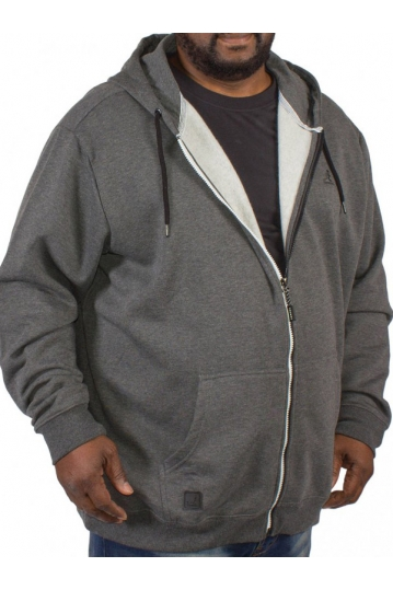 Big size Kangol Bionic zip up hoodie charcoal marl