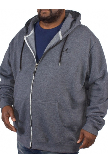 Big size Kangol Bionic zip up hoodie blue marl