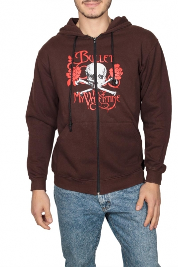 Zip up hoodie brown