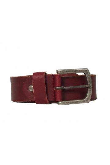 Leather belt bordeaux