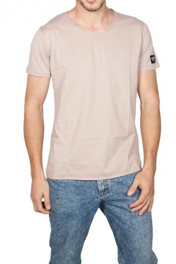 Oyet ανδρικό T-shirt σκούρο εκρού