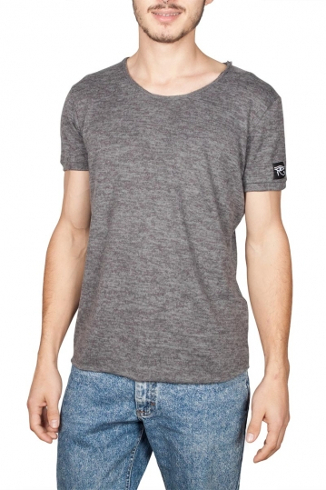 Oyet men's T-shirt dark grey melange